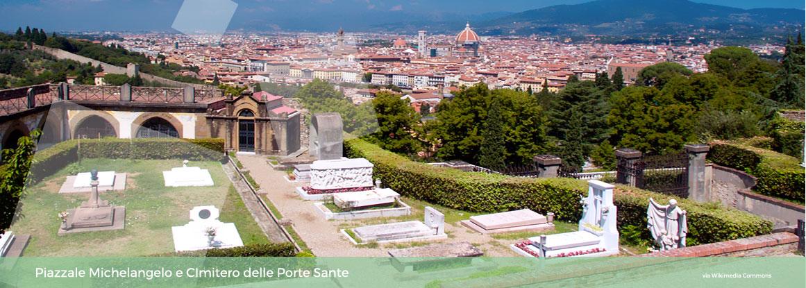 Visita guidata del Piazzale Michelangelo, San Miniato al Monte, Cimitero delle Porte Sante